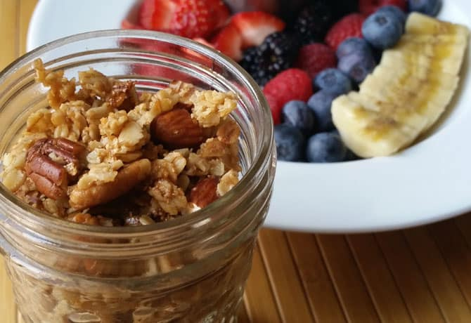 What To Make For Breakfast Tomorrow? Maple-Nut Granola