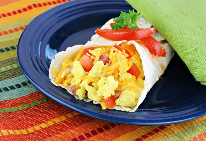 Need Breakfast Ideas For Toddlers? Healthy Breakfast For Kids? Try Breakfast Burritos!