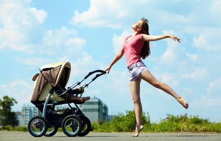 Doctor Dina Health Advice for Kids- stroller