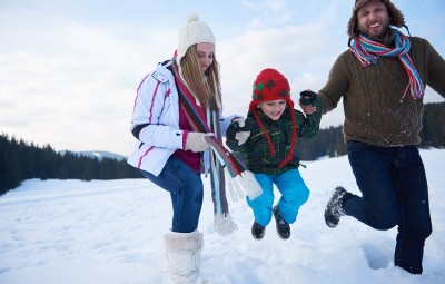 It's important to keep the family active even when the temperatures are cold outside. Here's some ideas to keep you moving!