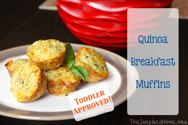 These make-ahead freezable Quinoa Breakfast Muffins are not only healthy fast food on busy mornings, they're super-popular with toddlers! | Kid Friendly | DrDina.ca